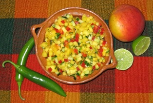 Try our best salsa: Sammy's Mango Salsa with your Fish or Chicken Tacos and is perfect with salads too.